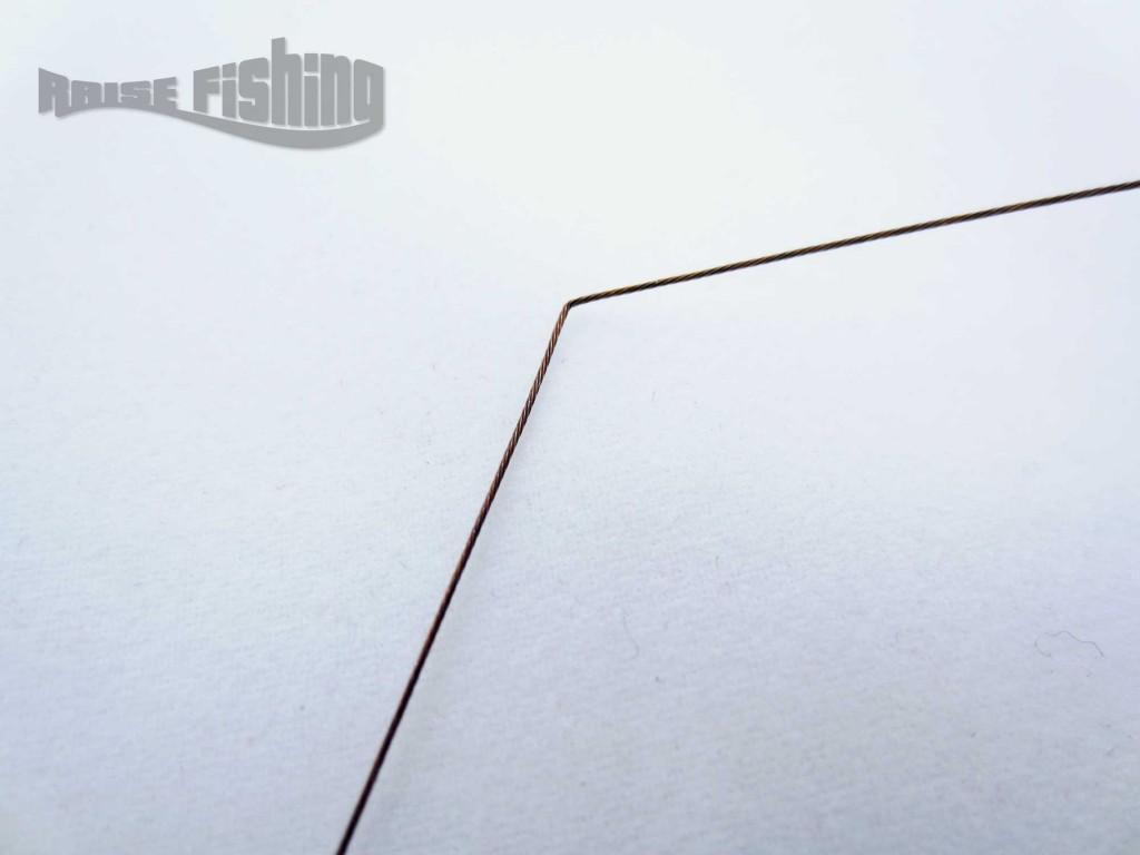 test avis bas de ligne acier multiflex cannelle
