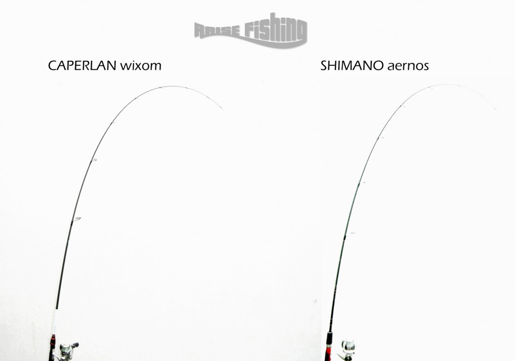 test canne caperlan wixom vs shimano aernos