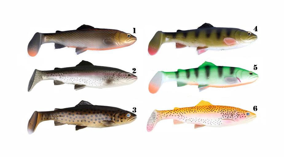 couleurs disponigle 3 d trout shad Savage Gear
