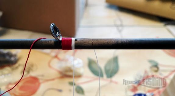 realisation ligatures anneau canne à pêche