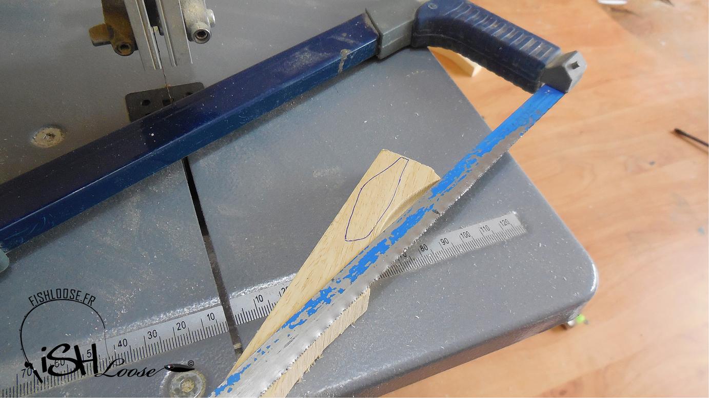 fabriquer créer un leurre en bois