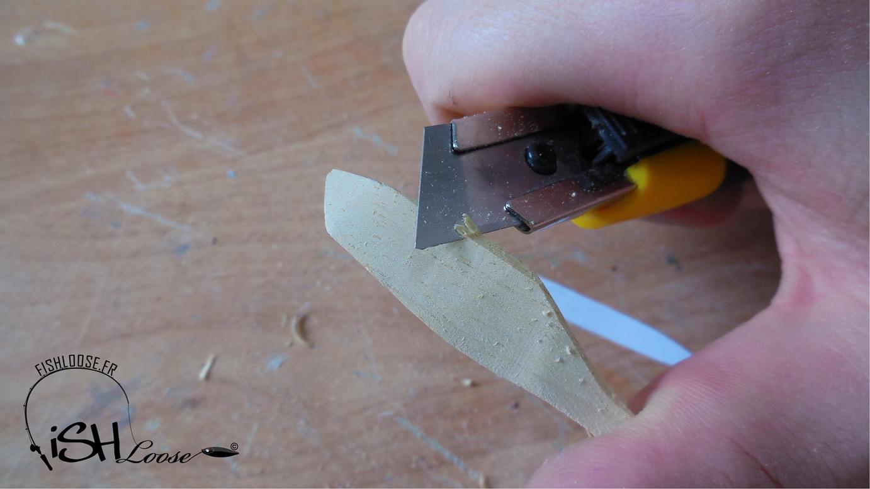 réalisation d'un leurre en bois